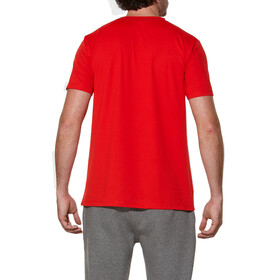 asics Sanded Hardloopshirt korte mouwen Heren rood